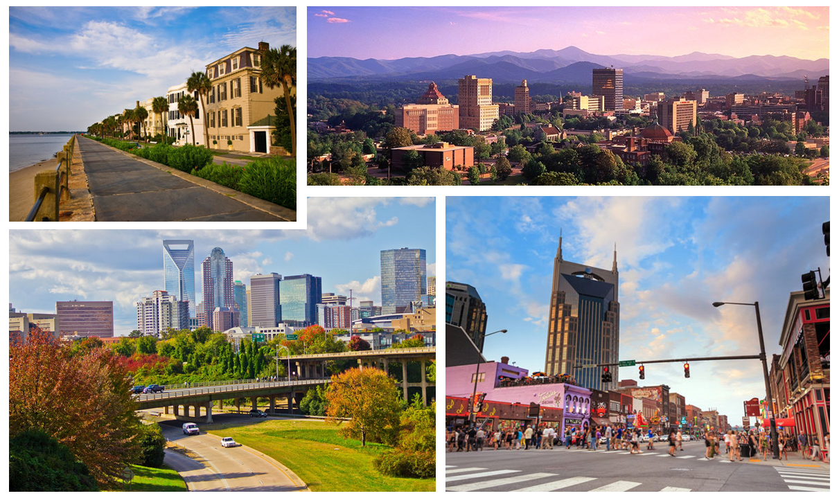 4 Southern Cities